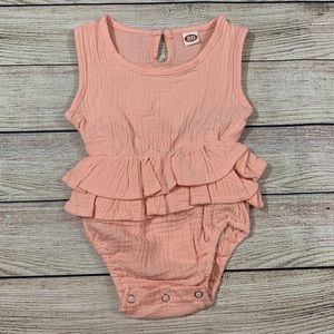 Other - Pink Ruffle Bodysuit